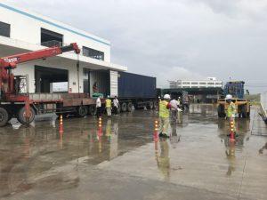 ウロンハイフォンベトナムでのフォークリフトのレンタルの建設 3