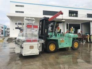 ウロンハイフォンベトナムでのフォークリフトのレンタルの建設 1