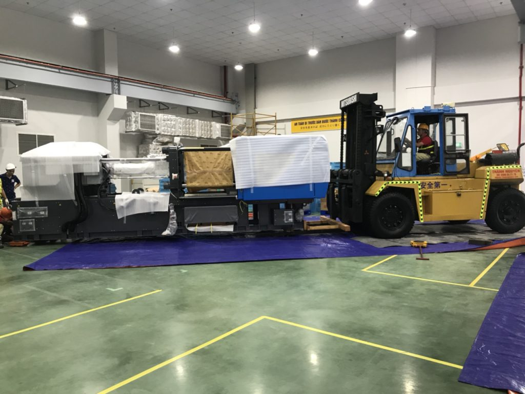 construction of forklift for rent in hai phong viet nam image